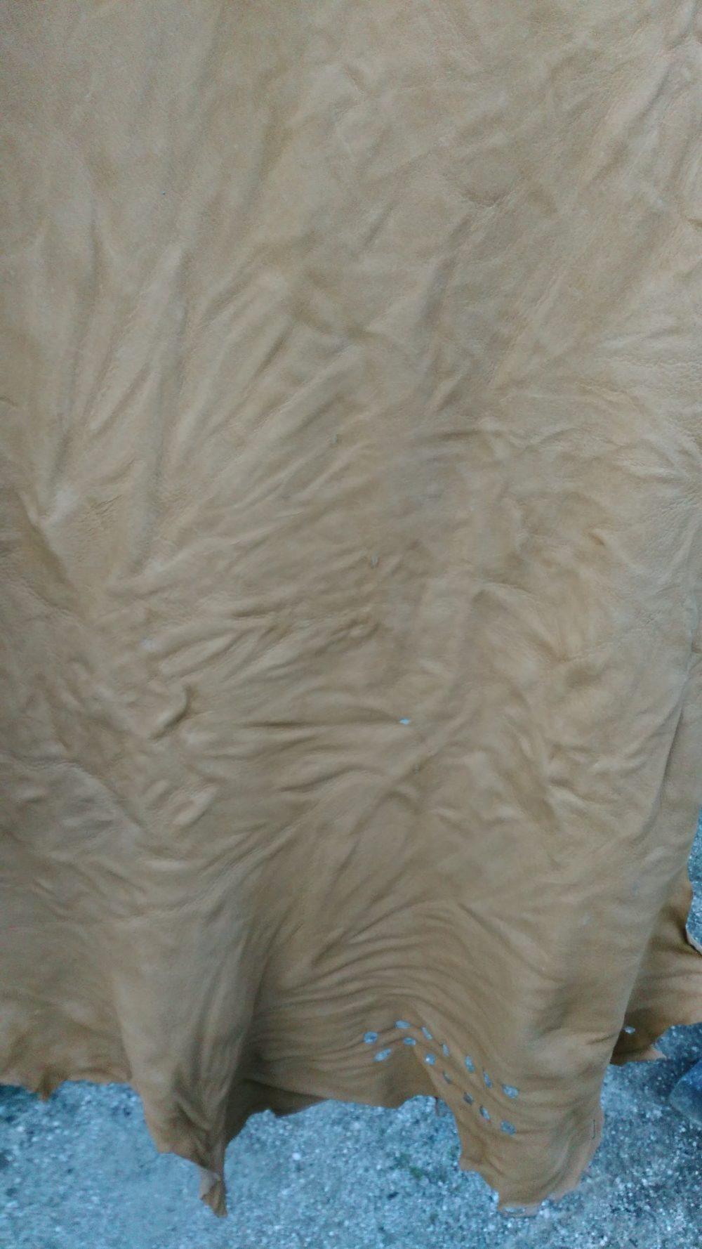 革の洗い加工 縮率計算 レザー